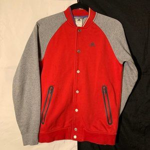 Adidas Varsity Style Button Up - Red/Gray